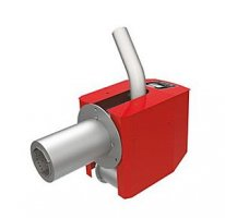 Pellet burner for solid fuel boilers